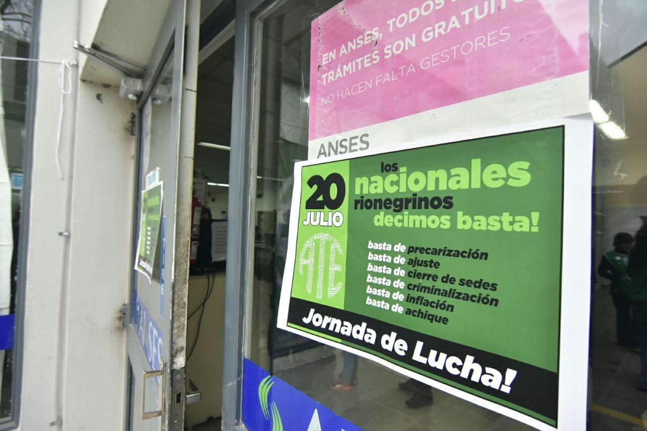 #EnImágenes la #JornadaDeProtesta de ATE en los organismos nacionales