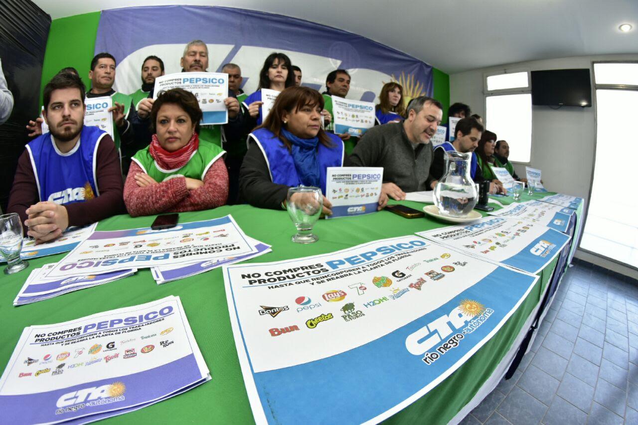 La CTA Autónoma lanzó en Río Negro la Campaña Provincial «No comprés PepsiCo»
