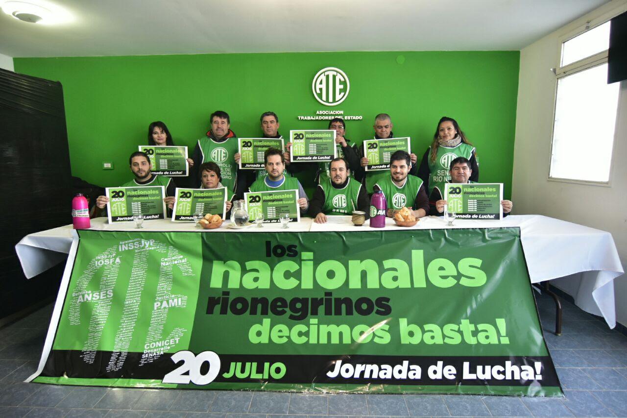 Salarios y ajuste: con mate y tortas fritas, ATE protesta en los organismos nacionales el jueves 20 de julio