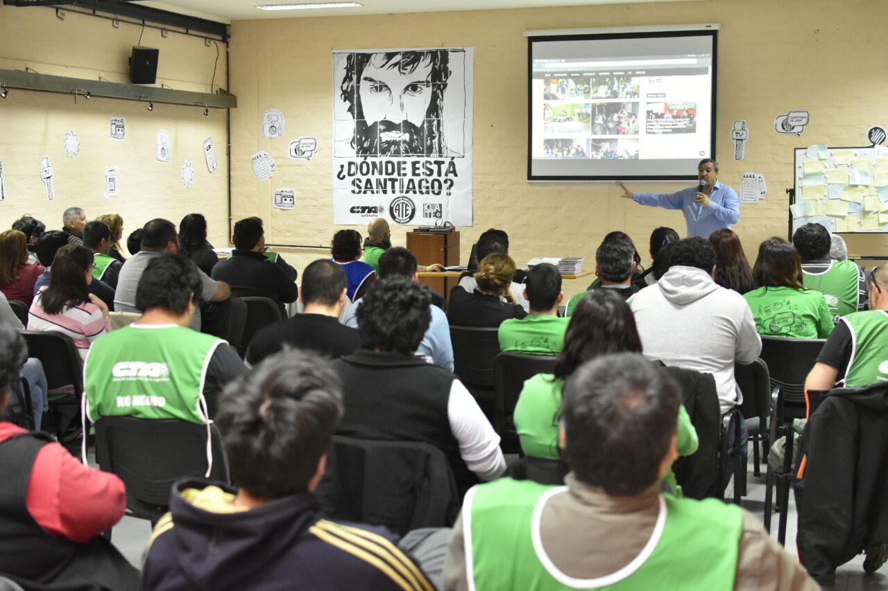 Con representantes de toda la provincia, ATE Río Negro presentó su nueva página web