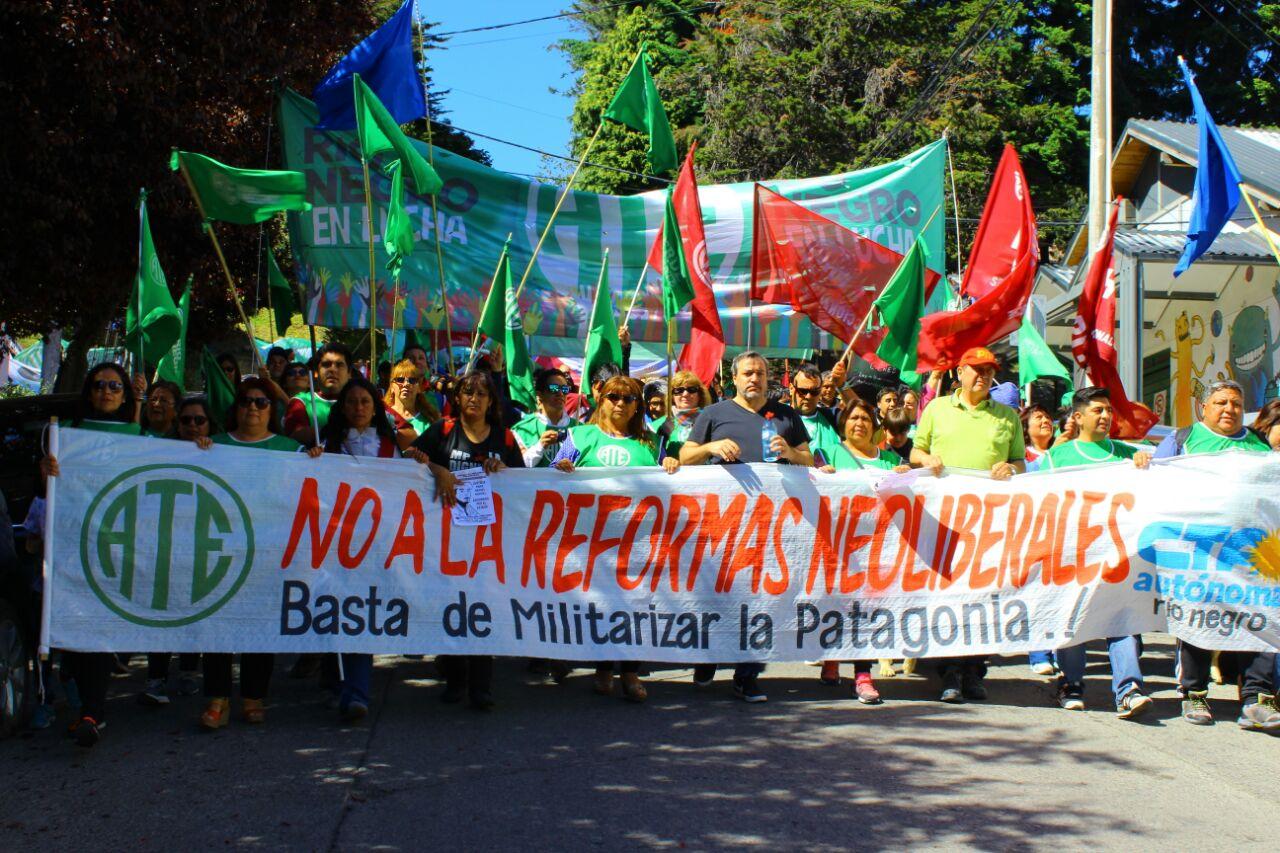 #Imágenes: el histórico Paro y Movilización de ATE y CTA en Río Negro contra las Reformas Neoliberales de Macri