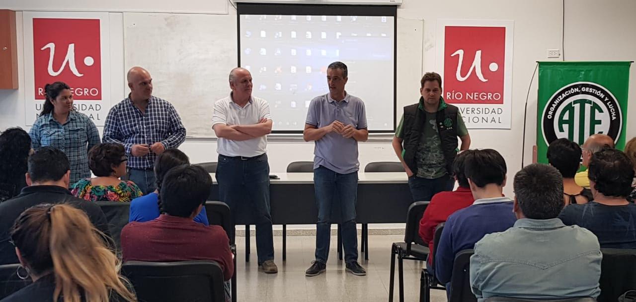 Roca |ATE firma convenio con la Universidad para la formación de afiliados