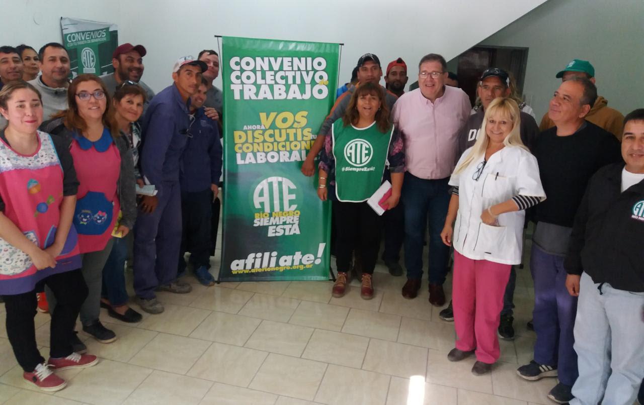 Villa Regina   En reunión con ATE, intendente electo se comprometió a crear convenio colectivo