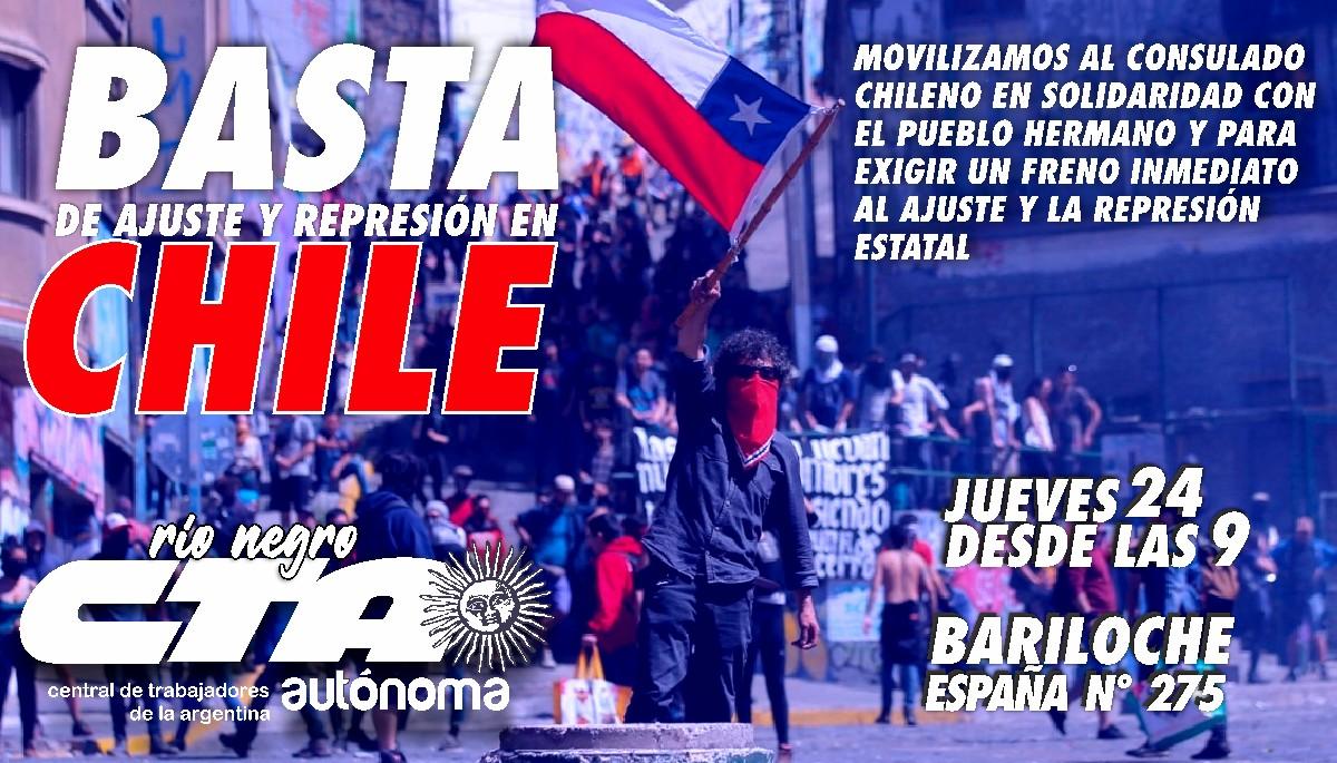 La CTA llama a movilizarse hoy al Consulado chileno en Bariloche
