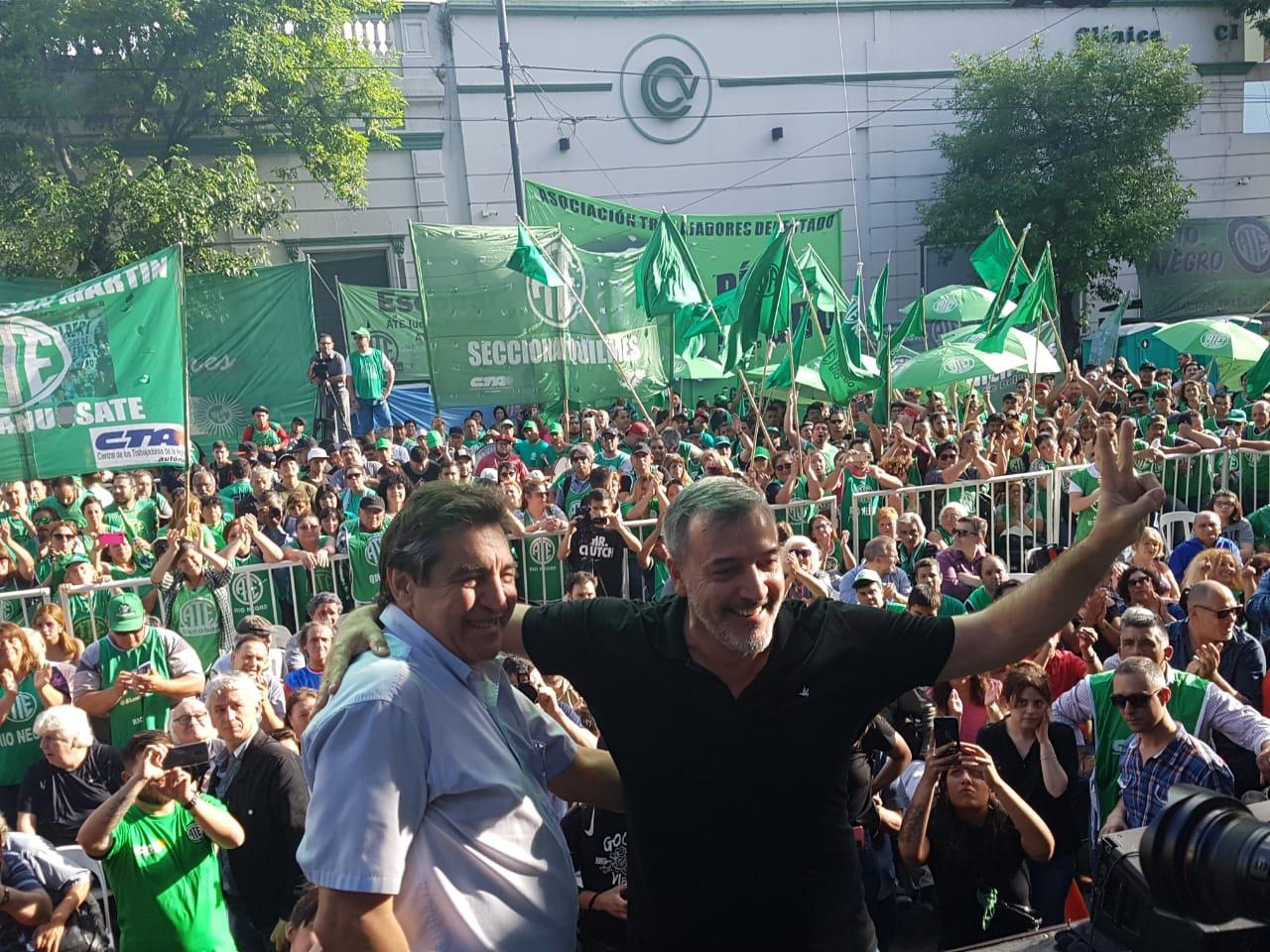 En imponente acto asumieron Godoy y Aguiar en ATE nacional