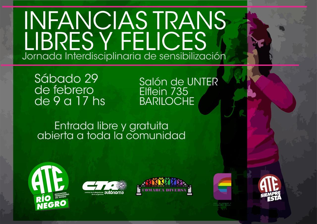 """ATE invita al conversatorio """"Infancias trans, felices y libres"""""""