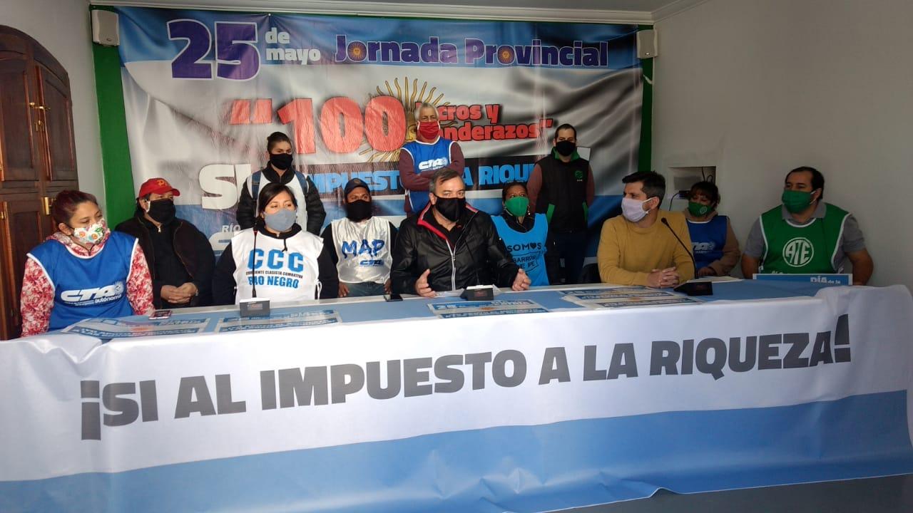 25M | 100 locros y banderazo de la CTA y los movimientos sociales