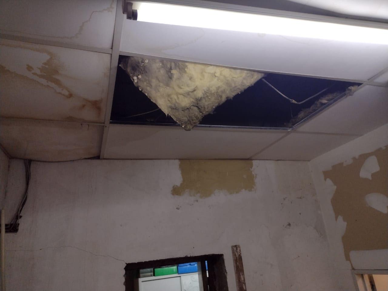 Allen | Tras la lluvia, ATE denuncia el gravísimo deterioro de la sede municipal